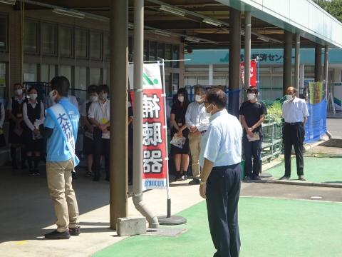 「茨城県知事選挙「大井川和彦」知事候補、石岡市内遊説活動」⑲