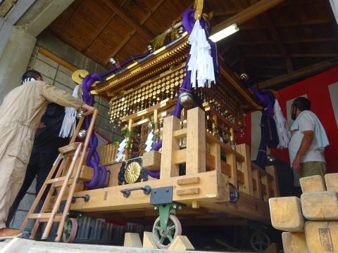 「常陸國總社宮例大祭の大神輿が寂しそうでした。」 (2)