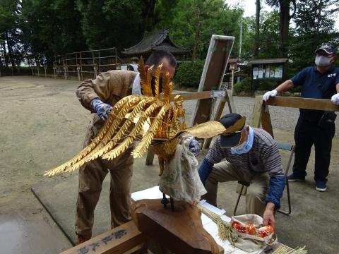 「常陸國總社宮例大祭の大神輿が寂しそうでした。」 (3)