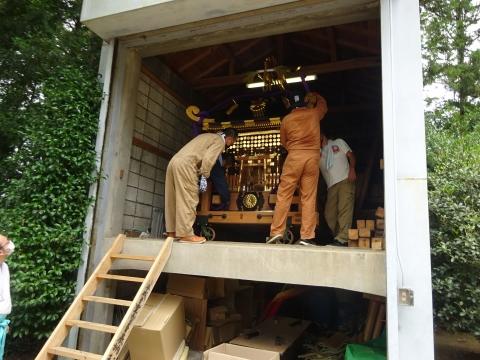 「常陸國總社宮例大祭の大神輿が寂しそうでした。」 (6)