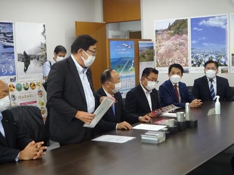 「道祖神峠トンネル化整備促進期成同盟」土木部長・営業戦略部長要望⑦
