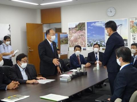 「道祖神峠トンネル化整備促進期成同盟」土木部長・営業戦略部長要望⑥
